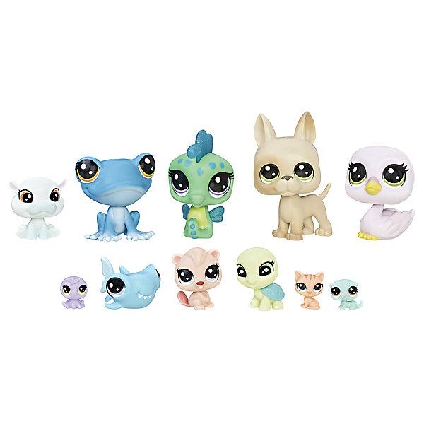 Hasbro Набор фигурок Littlest Pet Shop Экипаж, 11 шт. игровой набор hasbro littlest pet shop зверюшка с волшебным механизмом 4 предмета от 4 лет а5130