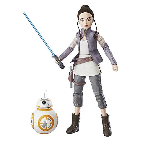 Кукла Star Wars Рэй с дроидом, 27,5 смЗвездные войны<br>Характеристики:<br><br>• возраст: от 4 лет;<br>• материал: пластик;<br>• в наборе: 2 фигурки, оружие, аксессуары;<br>• высота игрушки: 27,5 см;<br>• вес упаковки: 238 гр.;<br>• размер упаковки: 33х20х6 см;<br>• страна бренда: США.<br><br>Модная кукла Hasbro и фигурка дроида в точности изображают героев «Звездных войн». Внешний вид фигурок детально проработан, лицо куклы и корпус робота прорисованы. У куклы двигаются и сгибаются руки и ноги, в наборе имеются соответствующие героине атрибуты и оружие. У дроида подвижная голова.<br><br>Если сжать ножки игрушки вместе, она примет боевую позу. Набор станет ценной частью коллекции фигурок и подойдет для сюжетных игр. Сделано из прочных качественных материалов.<br><br>Игровой набор модная кукла «Звездные войны» с дроидом можно купить в нашем интернет-магазине.<br>Ширина мм: 64; Глубина мм: 203; Высота мм: 330; Вес г: 238; Возраст от месяцев: 36; Возраст до месяцев: 84; Пол: Унисекс; Возраст: Детский; SKU: 7230771;