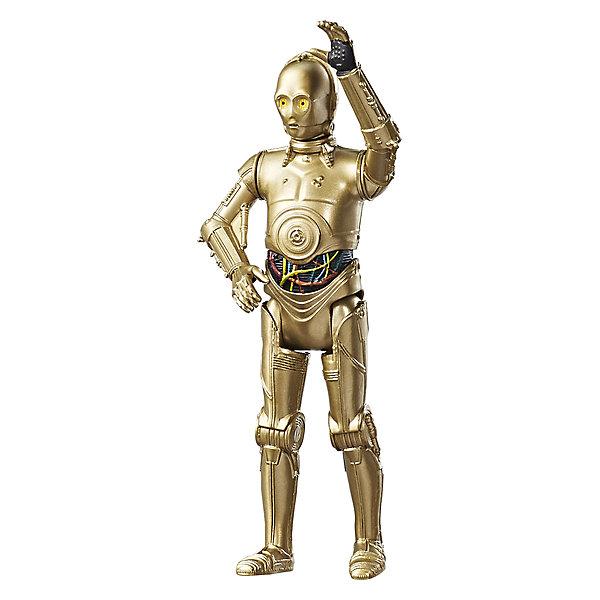 Фигурка Star Wars C-3PO с двумя аксессуарами, 9 см.Коллекционные фигурки<br>Характеристики:<br><br>• возраст: от 4 лет;<br>• материал: пластик;<br>• высота фигурки: 9 см;<br>• в наборе: фигурка;<br>• вес упаковки: 68 гр.;<br>• размер упаковки: 18х3х12 см;<br>• страна бренда: США;<br>• упаковка: блистер.<br><br>Фигурка Hasbro из серии Star Wars с точностью изображает персонажа одноименного фильма. Фигурка C-3PO детально проработана, корпус соответствует внешнему виду героя «Звездных войн: Последние Джедаи». Кроме того, в наборе есть идентичное оружие, которое можно вставить в руку игрушки.<br><br>Фигурка подойдет дли сюжетных игр и для коллекционирования с другими фигурками этой серии. Сделано из качественных прочных материалов.<br><br>Фигурку с двумя аксессуарами 9 см, Star Wars Эпизод 8 можно купить в нашем интернет-магазине.<br>Ширина мм: 38; Глубина мм: 121; Высота мм: 184; Вес г: 113; Возраст от месяцев: 96; Возраст до месяцев: 2147483647; Пол: Мужской; Возраст: Детский; SKU: 7230789;