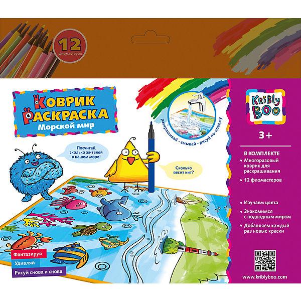 Коврик- многоразовая раскраска Морской мирВодные раскраски<br>Как разнообразен подводный мир. Желтые медузы, синие осьминоги, красные крабики. Или, подождите, осьминог красный, медузы синие, а крабики вообще зеленые? Это не важно. Теперь, с многоразовым ковриком-раскраской от Крибли Бу «Водный мир» ребенок может раскрашивать и перекрашивать любимых персонажей бессчётное количество раз, ведь надоевшую цветовую гамму легко смыть обычной водой! Смывайте весь рисунок или отдельные части, и раскрашивайте снова и снова.<br>Ширина мм: 250; Глубина мм: 30; Высота мм: 220; Вес г: 139; Возраст от месяцев: 36; Возраст до месяцев: 2147483647; Пол: Унисекс; Возраст: Детский; SKU: 7231086;