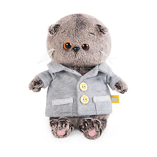 Budi Basa Мягкая игрушка Budi Basa Кот Басик Baby в сером пиджачке, 20 см цены онлайн