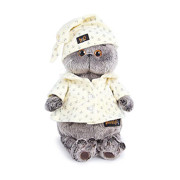 Budi Basa Мягкая игрушка Budi Basa Кот Басик в пижаме, 22 см цена и фото