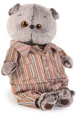 Мягкая игрушка Budi Basa Кот Басик в шелковой пижамке, 22 см, артикул:7231221 - Мягкие игрушки