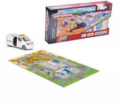 Игровой коврик Creatix, Construction серии, нескользящий + 1 машинка, артикул:7231328 - Транспорт