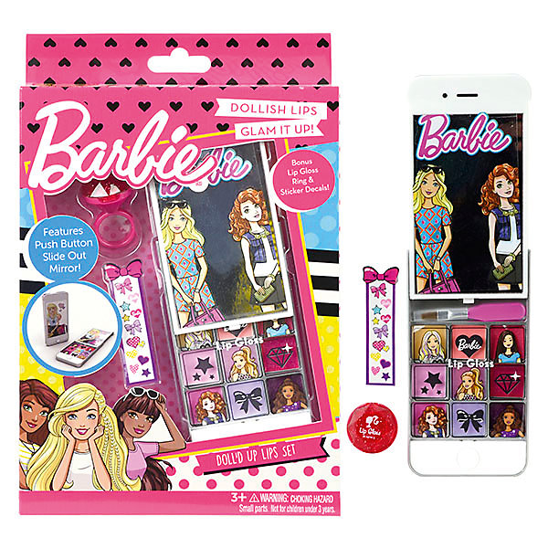 Markwins Игровой набор Markwins Barbie Декоративная косметика Блеск для губ, 9 шт + кисточка markwins детская декоративная косметика markwins my little pony сумеречная искорка для губ