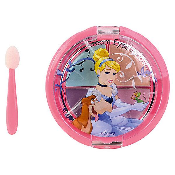 "Markwins Игровой набор Markwins Disney Princess ""Декоративная косметика"" Тени для век, 4 цвета (Золушка)"