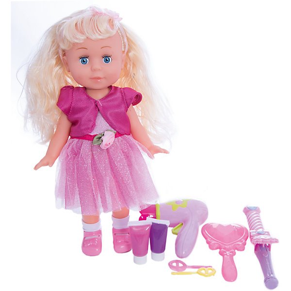 Кукла  30см, озвученная, руссифицированная, закрывывает глазки, с аксессуарами.Куклы<br>Характеристики товара:<br><br>• в комплекте: кукла, аксессуары;<br>• высота куклы: 30 см;<br>• возраст: от 3 лет;<br>• батарейки: LR44 - 3 шт. (входят в комплект);<br>• материал: пластик, текстиль, металл;<br>• размер упаковки: 9х23х31 см;<br>• страна бренда: Россия.<br><br>Кукла Полина сможет развлечь и развеселить девочку, ведь она очень милая и забавная. Куколка умеет петь и говорить. Полина расскажет девочке стихи «Пошла гулять», «Я люблю свою подружку», «Вместе с солнышком встаю», «Пришла ко мне подружка», а также споет песенки «С голубого ручейка», «Облака», «Что мне снег, что мне зной», «Если долго-долго-долго».<br><br>Кукла имеет очень милое личико и красивые длинные волосы. Полина одета в яркое воздушное платье. В комплект входят различные аксессуары для создания причесок: расческа, заколочки, фен, 2 вида краски для волос. Если девочка уложит куклу спать, то Полина очень реалистично закроет глазки.<br><br>Куклу  30см, озвученную,  русифицированную, закрывает глазки, с аксессуарами, Карапуз можно купить в нашем интернет-магазине.<br>Ширина мм: 150; Глубина мм: 50; Высота мм: 200; Вес г: 630; Возраст от месяцев: 36; Возраст до месяцев: 84; Пол: Женский; Возраст: Детский; SKU: 7233169;