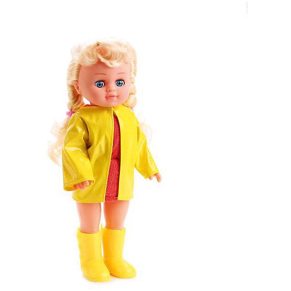 Ккула 35 см , озвученная, кольцо  и резиночки в подарок.Интерактивные куклы<br>Характеристики товара:<br><br>• в комплекте: кукла, аксессуары;<br>• высота куклы: 35 см;<br>• возраст: от 3 лет;<br>• материал: пластик, текстиль;<br>• батарейки в комплекте;<br>• размер упаковки: 10х20х39 см;<br>• страна бренда: Россия.<br><br>Кукла высотой 35 сантиметров от торговой марки Карапуз станет настоящей подружкой для девочки. У куклы длинные светлые волосы, заплетенные в два хвостика, широкие глазки и очаровательное личико. Кукла одета в красное платье,  стильный ярко-желтый плащ и сапожки в тон. В комплект входят резиночки и колечко, которыми сможет воспользоваться хозяйка куклы. Если нажать Полине на животик, она споет песенку и расскажет стихотворения Агнии Барто.<br><br>Куклу 35 см , озвученную, кольцо  и резиночки в подарок, Карапуз можно купить в нашем интернет-магазине.<br>Ширина мм: 100; Глубина мм: 50; Высота мм: 350; Вес г: 690; Возраст от месяцев: 36; Возраст до месяцев: 84; Пол: Женский; Возраст: Детский; SKU: 7233178;