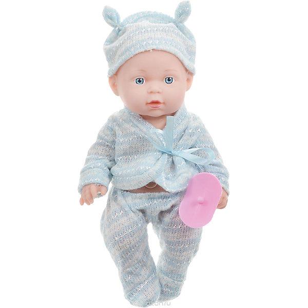 Пупс  25 см, твердое тело, озвученный, руссифицированный.Интерактивные куклы<br>Характеристики товара:<br><br>• в комплекте: кукла, одежда;<br>• высота куклы: 25 см;<br>• возраст: от 3 лет;<br>• материал: пластик, текстиль;<br>• размер упаковки: 11х21х18 см;<br>• страна бренда: Россия.<br><br>С очаровательным пупсом от торговой марки Карапуз девочка никогда не заскучает. Малыша можно убаюкать, покормить, уложить спать, воображая себя заботливой мамой. Кроме того, пупс умеет петь песню и рассказывать стихи Агнии Барто. Ручки и ножки игрушки подвижны для придания нужной позы. Малыш одет в  голубой костюмчик и голубую шапочку. Пупс имеет твердое тело.<br><br>Пупса  25 см, твердое тело, озвученного, русифицированный, Карапуз можно купить в нашем интернет-магазине.<br>Ширина мм: 90; Глубина мм: 55; Высота мм: 250; Вес г: 420; Возраст от месяцев: 36; Возраст до месяцев: 84; Пол: Женский; Возраст: Детский; SKU: 7233191;