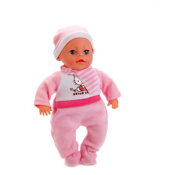 Карапуз Пупс HELLO KITTY 30 см, озвученный, мягкое тело. карапуз пупс озвученный hello kitty цвет одежды розовый