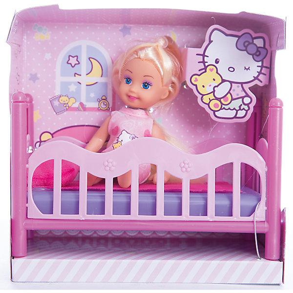 КАРАПУЗ КУКЛА HELLO KITTY. Машенька 12 см, твердое тело, с кроваткой. карапуз кукла с аксессуарами 30 см hello kitty