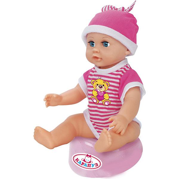 КАРАПУЗ Пупс 25 см, 3 функции, пьет, писает, с аксессуарами. куклы карапуз кукла карапуз принцесса рапунцель 25 см