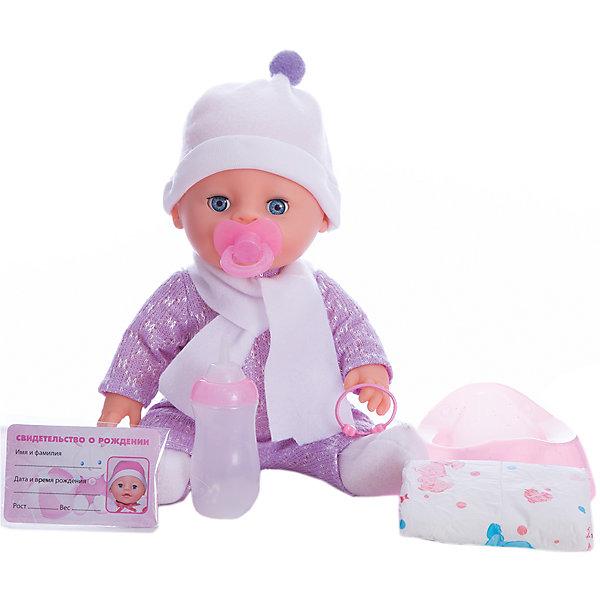 Пупс 30 см, 3 функции , пьет и писает, закрывает глазки , с аксессуарами.Куклы<br>Характеристики товара:<br><br>• в комплекте: кукла, соска, бутылочка, горшок, свидетельство;<br>• высота куклы: 30 см;<br>• возраст: от 3 лет;<br>• размер упаковки: 15х30х27 см;<br>• материал: пластик, текстиль;<br>• страна бренда: Россия.<br><br>С интерактивным пупсом от торговой марки Карапуз девочка и когда не заскучает. Кукла имеет 3 полезных функции: пьет, писает, закрывает глазки. Руки и ноги пупса подвижны для придания нужной позы. В комплект входят аксессуары для ухода за малышом: подгузник, бутылочка, соска и свидетельство. Если напоить малыша и посадить его на горшок, пупс начнет реалистично писать. Чтобы кукла закрыла глазки, достаточно положить ее или убаюкать. В свидетельстве девочка сможет написать имя, которое выберет для своего малыша. Пупс одет в розовый костюмчик и шапочку в тон.<br><br>Пупса 30 см, 3 функции , пьет и писает, закрывает глазки , с аксессуарами, Карапуз можно купить в нашем интернет-магазине.<br>Ширина мм: 130; Глубина мм: 70; Высота мм: 300; Вес г: 820; Возраст от месяцев: 36; Возраст до месяцев: 84; Пол: Унисекс; Возраст: Детский; SKU: 7233212;