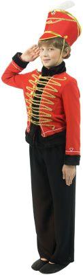 Гусар красный с красным кивером, артикул:7234463 - Детские карнавальные костюмы и аксессуары