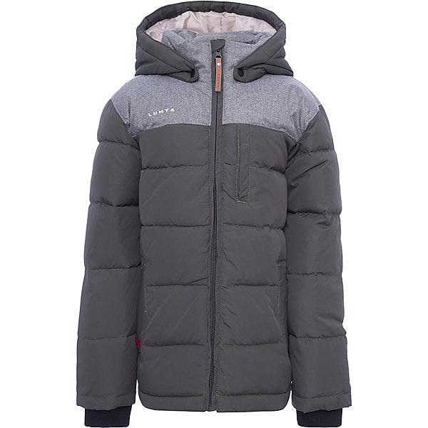 Куртка Luhta для мальчикаВерхняя одежда<br>Характеристики товара:<br><br>• цвет: зеленый<br>• состав ткани: 100% полиэстер<br>• подкладка: 100% полиэстер<br>• утеплитель: 25% пух, 25% перо, 50% искусственный наполнитель<br>• сезон: зима<br>• температурный режим: от -30 до +5<br>• плотность утеплителя: 280 г/м2<br>• капюшон: съемный<br>• застежка: молния<br>• встроенный датчик температуры<br>• страна бренда: Финляндия<br>• страна изготовитель: Китай<br><br>Такая детская куртка от финского бренда Luhta теплая и легкая. Прочный верх детской куртки - из комбинированной ткани. Модная куртка Luhta для мальчика рассчитана даже на сильные морозы. Зимняя куртка для ребенка отличается продуманным дизайном.<br><br>Куртку Luhta (Лухта) для мальчика можно купить в нашем интернет-магазине.<br>Ширина мм: 356; Глубина мм: 10; Высота мм: 245; Вес г: 519; Цвет: зеленый; Возраст от месяцев: 96; Возраст до месяцев: 108; Пол: Мужской; Возраст: Детский; Размер: 134,164,158,152,146,140; SKU: 7235822;