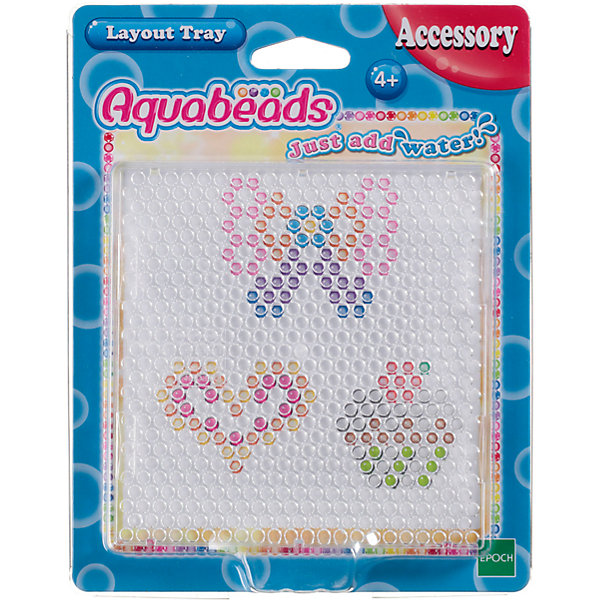 Форма из бусин AquabeadsМозаика<br>Формы для бусин, на которых можно собирать игрушки. Зачем ждать, пока игрушка на другой форме, когда можно взять еще одну и не останавливаться на достигнутом? <br>Представляет из себя аксессуар для игры.