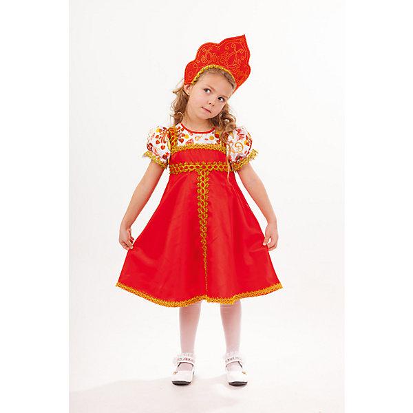 1013 к-18 Костюм Красна-девицаКарнавальные костюмы для девочек<br>100% полиэстер Карнавальный костюм Красна-девица, выполнен в русско-народном стиле. Дополнением служит кокошник с отделкой из страз. Застежка на молнии на спинке.<br>Ширина мм: 450; Глубина мм: 80; Высота мм: 350; Вес г: 250; Возраст от месяцев: 84; Возраст до месяцев: 96; Пол: Женский; Возраст: Детский; Размер: 128,110,116; SKU: 7238532;