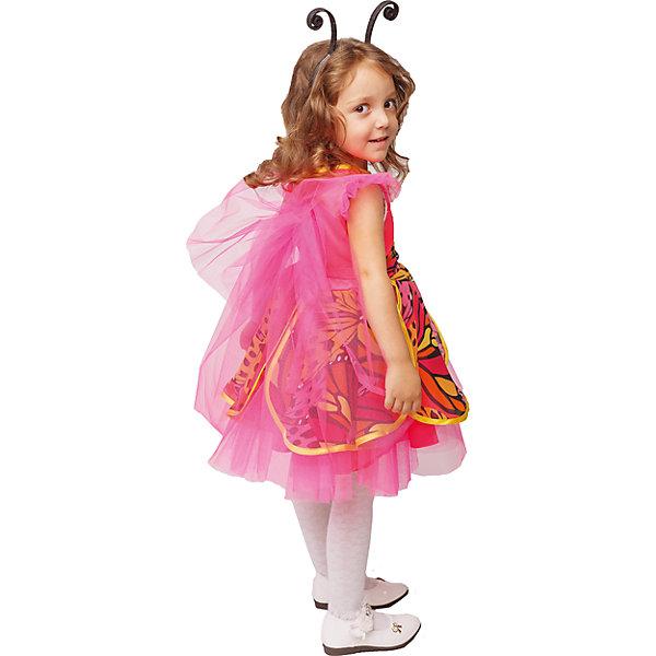 1014 к-18 Костюм БабочкаКарнавальные костюмы для девочек<br>100% полиэстер Карнавальный костюм Бабочки, будет к лицу любой малышке. Образ бабочки подойдет для любого утренника или спектакля. Крылья и низ платья выполнены из фатина. Удачным дополнением образа являюся усики на ободке.<br>Ширина мм: 450; Глубина мм: 80; Высота мм: 350; Вес г: 250; Возраст от месяцев: 36; Возраст до месяцев: 48; Пол: Женский; Возраст: Детский; Размер: 104,116,110; SKU: 7238536;