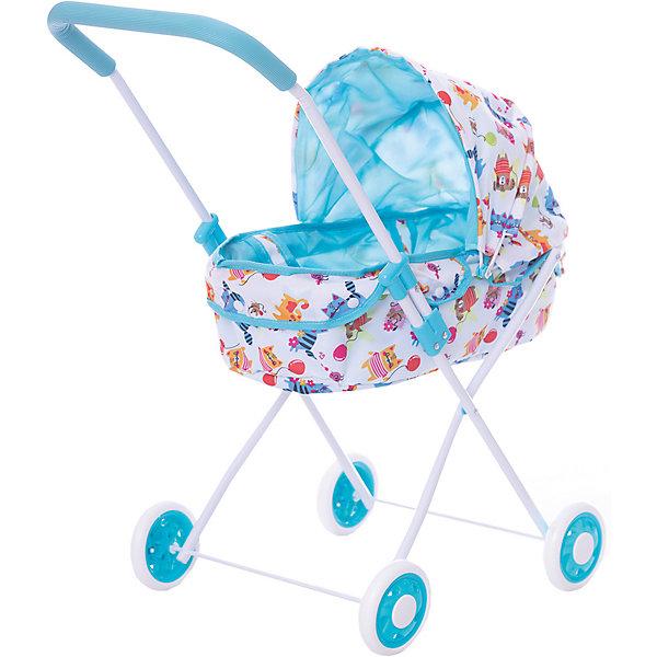 Коляска-люлька для кукол Mary Poppins Фантазия, голубаяТранспорт и коляски для кукол<br>Характеристики:<br><br>• возраст: от 3 лет<br>• размер: 42х34х67 см.<br>• съемная люлька<br>• подходит для кукол высотой до 40 см<br>• материал: текстиль, пластик<br>• размер упаковки: 65х37х12 см.<br>• вес: 2 кг.<br><br>Классическая коляска-люлька «Фантазия» от производителя Mary Poppins предназначена для сюжетно-ролевой игры в дочки-матери. Коляска очень похожа на настоящую. Она подойдет для любой куклы высотой до 40 см.<br><br>У коляски регулируется капюшон. Положение капюшона можно менять относительно ручки, благодаря этому люлька в коляске оказывается повернутой как в положении «против направления движения», так и в положении «по направлению движения». На ручке коляски есть мягкая накладка. Люльку можно снять с коляски (она закрепляется на каркасе коляски с помощью кнопок) и использовать в качестве переноски — у люльки есть специальные ручки.<br><br>Снаружи чехол коляски сделан из материала с модным эксклюзивным принтом с забавными персонажами, узорами и цветочными мотивами, внутри чехол однотонный голубой. Для удобного хранения и транспортировки коляску можно складывать.<br><br>Коляска-люлька «Фантазия» поможет девочке почувствовать себя взрослой, и сделает игровой сюжет более увлекательным и реалистичным.<br><br>Коляску люльку Фантазия  с корзиной, голуб., 62*35*68см можно купить в нашем интернет-магазине.<br>Ширина мм: 370; Глубина мм: 120; Высота мм: 630; Вес г: 2000; Возраст от месяцев: 36; Возраст до месяцев: 2147483647; Пол: Женский; Возраст: Детский; SKU: 7240494;