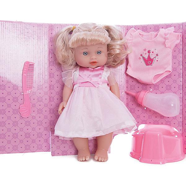 Интерактивная кукла Mary Poppins Приучаемся к горшку Лизи в розовом, 30 смИнтерактивные куклы<br>Характеристики:<br><br>• возраст: от 3 лет<br>• комплектация: кукла, бутылочка, горшок, боди, расческа<br>• высота куклы: 30 см.<br>• материал: пластик, текстиль<br>• упаковка: картонная коробка блистерного типа<br><br>Симпатичная кукла Лизи из коллекции «Приучаемся к горшку» отлично подойдет для сюжетно-ролевых игр в дочки-матери.<br><br>Кукла похожа на настоящую малышку. У нее пухлые щечки, широко открытые глазки, аккуратный носик. Лизи одета в красивое платье. Волосы куклы собраны в два хвостика. Лизи умеет пить из бутылочки, писать в горшок. Ручки и ножки у куклы подвижны, глазки не закрываются.<br><br>Кукла Лизи поможет приучить ребенка к горшку.<br><br>Куклу Лизи 30см Приучаемся к горшку можно купить в нашем интернет-магазине.<br>Ширина мм: 310; Глубина мм: 150; Высота мм: 100; Вес г: 650; Возраст от месяцев: 36; Возраст до месяцев: 2147483647; Пол: Женский; Возраст: Детский; SKU: 7240506;