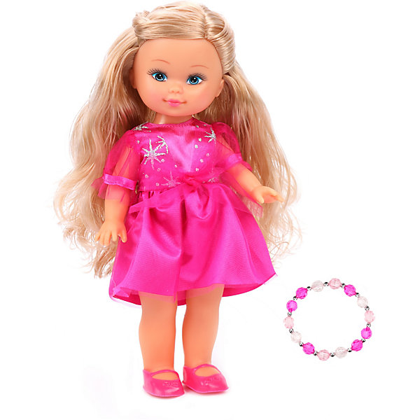 Mary Poppins Классическая кукла Маленькая леди с браслетом Элиза в малиновом платье, 25 см
