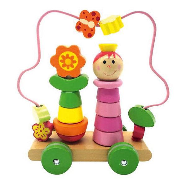 Mapacha Деревянная каталка-лабиринт Девочка на колесиках