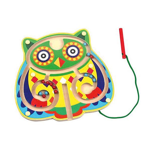 Магнитный лабиринт Mapacha СовенокРазвивающие игрушки<br>Характеристики:<br><br>• возраст: от 3 лет<br>• комплектация: доска-лабиринт, магнит на палочке, шарики<br>• материал: дерево, металл, текстиль<br>• вес: 340 гр.<br><br>Магнитный лабиринт «Совенок» - это увлекательная игра для детей, позволяющая развить ловкость, координацию и мелкую моторику.<br><br>Лабиринт выполнен в виде совы. Цель игры состоит в том, чтобы с помощью специальной магнитной палочки перемещать цветные шарики по лабиринту, стараясь собрать их в самом центре.<br><br>Игрушка выполнена из качественной древесины, рисунок нанесен безопасными красками ярких цветов.<br><br>Магнитный лабиринт Совенок можно купить в нашем интернет-магазине.<br>Ширина мм: 220; Глубина мм: 210; Высота мм: 20; Вес г: 340; Возраст от месяцев: 36; Возраст до месяцев: 2147483647; Пол: Унисекс; Возраст: Детский; SKU: 7240521;