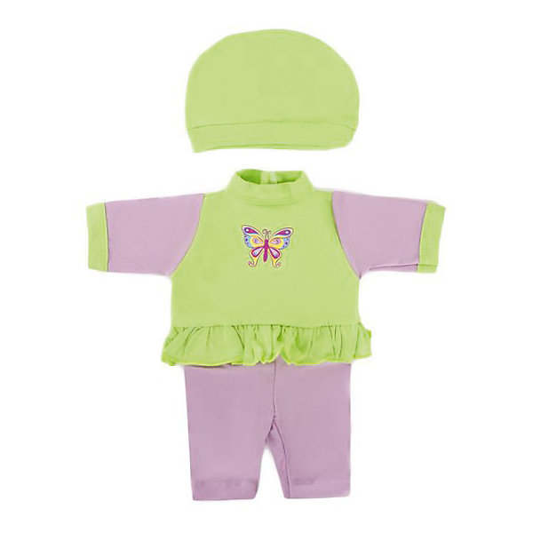 Одежда для куклы Mary Poppins Бабочка комбинезон с шапочкой, 38-43 см (серо-зеленый)Одежда для кукол<br>Характеристики:<br><br>• возраст: от 3 лет<br>• в комплекте: комбинезон, шапочка, пластиковая вешалка<br>• высота куклы: 38-43 см.<br>• материал: текстиль<br>• упаковка: чехол<br>• уход: стирка в стиральной машине при температуре 30 ?С<br><br>Комплект одежды станет отличным дополнением к гардеробу любой куклы высотой от 38 до 43 см.<br><br>В наборе девочки найдут комбинезон и шапочку. Комбинезон с воротничком-стойкой и длинными рукавами пошит в сочетании серого и салатового цветов, украшен принтом с изображением бабочки на груди и рюшей. Одежда отличается реалистичным дизайном и продуманным кроем, она полностью имитирует одежду для малышей.<br><br>Одежда для куклы сшита из мягкой, приятной на ощупь ткани. Швы на изделиях выполнены очень качественно и аккуратно. Яркие цвета одежды останутся такими же даже после стирки, так как ткань окрашена стойкими красителями.<br><br>Комплект одежды упакован в прозрачный чехол на застежках, а вешалка поможет малышкам удобно хранить набор в шкафу.<br><br>Одежду для куклы 38-43см, комбинезон с шапочкой Бабочка можно купить в нашем интернет-магазине.<br>Ширина мм: 220; Глубина мм: 5; Высота мм: 300; Вес г: 40; Возраст от месяцев: 36; Возраст до месяцев: 2147483647; Пол: Женский; Возраст: Детский; SKU: 7240541;
