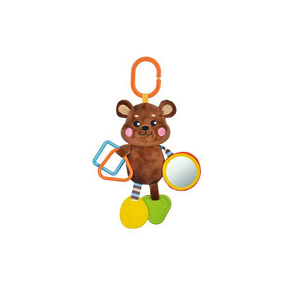 Подвеска Жирафики Мишка с прорезывателем и зеркальцемИгрушки для новорожденных<br>Характеристики:<br><br>• возраст: от 0 месяцев<br>• материал: пластик, текстиль, силикон<br>• вес: 170 гр.<br><br>Подвеска «Мишка» отвлечет малыша от капризов, успокоит и будет стимулировать развитие цветовосприятия, тактильных ощущений и координации движений.<br><br>Яркая подвеска выполнена в виде забавного медвежонка, оснащена прорезывателями и безопасным зеркальцем.<br><br>Игрушку можно подвесить к коляске, бортику кроватки, автокреслу.<br><br>Подвеску с силиконовым прорезывателем и зеркальцем Мишка можно купить в нашем интернет-магазине.<br>Ширина мм: 170; Глубина мм: 80; Высота мм: 310; Вес г: 170; Возраст от месяцев: 36; Возраст до месяцев: 2147483647; Пол: Унисекс; Возраст: Детский; SKU: 7240558;