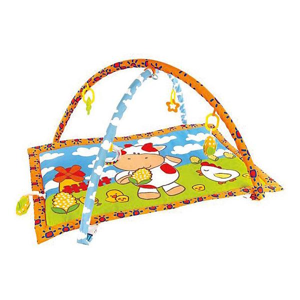 Жирафики Развивающий коврик с дугами Жирафики Коровка Муу и кукурузка с 5-ю игрушками цена