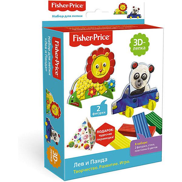 Origami Набор для 3D-лепки Fisher-Price Лев и панда