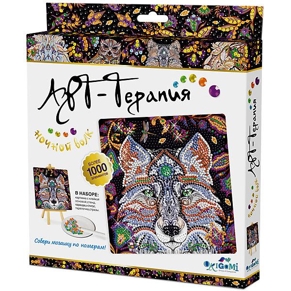 Origami Арт-терапия. Мозаика-алмазные узоры Ночной Волк арт. 03214 стилус