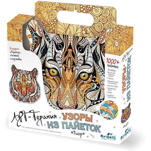 Origami Арт-терапия. Узоры из пайеток (1000+ пайеток). Тигр. Арт. 02716 футболка из пайеток