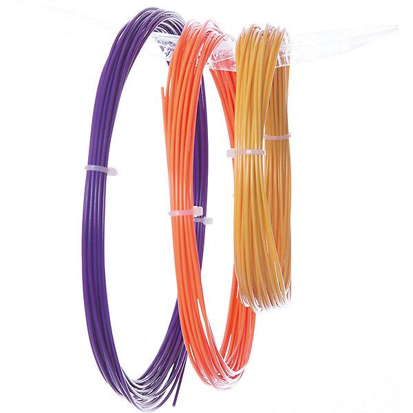 Esun Комплект ABS-пластика ESUN 1.75 мм, (оранжевый, золотой, пурпурный) abs 1 75 3d 395m