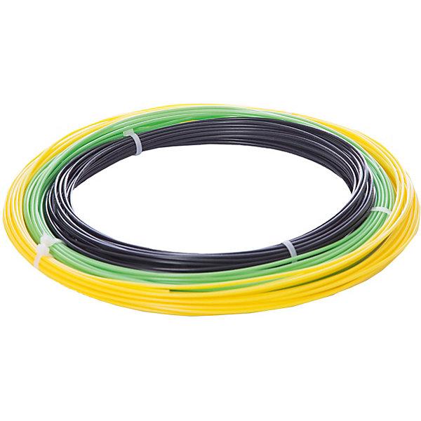 Esun Комплект ABS-пластика ESUN 1.75 мм, (черный, желтый, светло-зеленый) abs 1 75 3d 395m