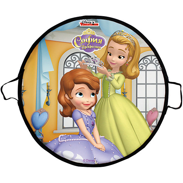 1Toy Ледянка 1Toy Disney Princess София, круглая, 52 см ледянка 1toy скуби ду диаметр 52 см