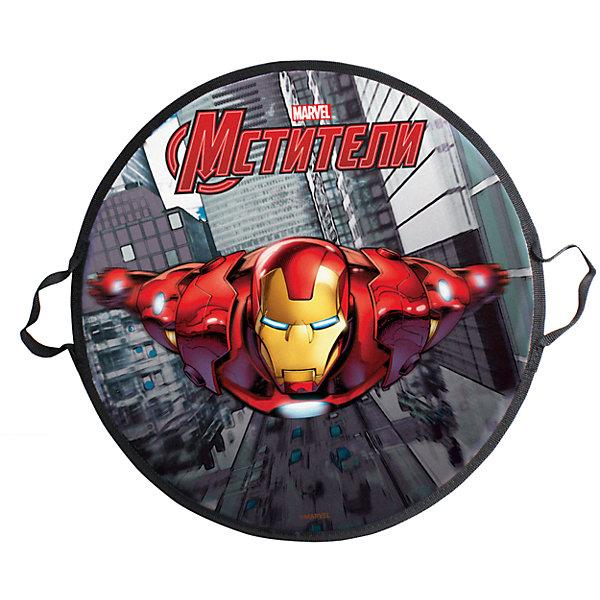 1Toy Ледянка 1Toy Marvel Железный Человек, круглая, 52 см ледянка 1toy с плотными ручками