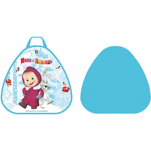 1Toy Ледянка 1Toy Маша и Медведь, треугольная, 52х50 см 1toy ледянка 92см маша и медведь 1toy