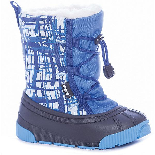 Сноубутсы Gusti для мальчикаСноубутсы<br>Характеристики товара:<br><br>• цвет: синий<br>• внешний материал: текстиль, полимер<br>• внутренний материал: натуральная шерсть, полиэстер<br>• стелька: натуральная шерсть, полиэстер<br>• подошва: ТПР<br>• сезон: демисезон<br>• температурный режим: от -30 до -5<br>• застежка: утяжка, шнурки<br>• анатомические <br>• подошва не скользит<br>• защита мыса<br>• страна бренда: Канада<br>• страна изготовитель: Китай<br><br>Практичные детские сноубутсы от Gusti имеют непромокаемую устойчивую подошву. Сноубутсы для детей сделаны из водоотталкивающего прочного материала на голенище. Подошва сноубутсов для мальчика не скользит. Сноубутсы для ребенка дополнены шнурком с утяжкой. <br><br>Сноубутсы Gusti (Густи) для мальчика можно купить в нашем интернет-магазине.<br>Ширина мм: 257; Глубина мм: 180; Высота мм: 130; Вес г: 420; Цвет: голубой; Возраст от месяцев: 12; Возраст до месяцев: 15; Пол: Мужской; Возраст: Детский; Размер: 20/21,24/25,22/23; SKU: 7242337;