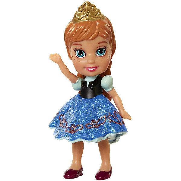 Disney Мини-кукла Холодное сердце Анна в синем платье, 7.5 см disney frozen мини кукла анна e1766