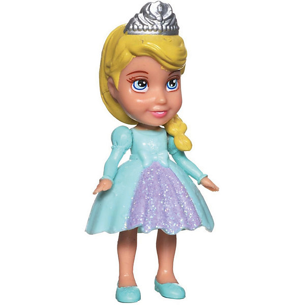 """Disney Мини-кукла """"Холодное сердце"""" Эльза в голубом платье, 7.5 см"""