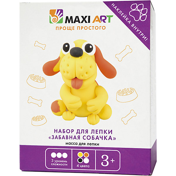 Maxitoys Набор для Лепки Забавная Собачка мягкие игрушки maxitoys собачка зиночка в платье