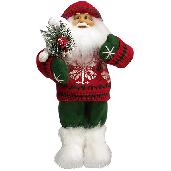 Дед Мороз в Красном Свитере, с МишкойЁлочные игрушки<br>Дед Мороз -  рождественская фигура. Выглядит очень естественно, со множеством мелких деталей. Отлично встанет под новогоднюю елку. Состав: нетканое полотно, плюш, пластмасса. Срок службы при надлежащем использовании - 5 лет.<br>Ширина мм: 320; Глубина мм: 160; Высота мм: 320; Вес г: 400; Возраст от месяцев: 60; Возраст до месяцев: 2147483647; Пол: Унисекс; Возраст: Детский; SKU: 7243055;