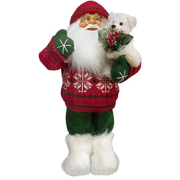 Дед Мороз в Красном Свитере, с МишкойЁлочные игрушки<br>Дед Мороз -  рождественская фигура. Выглядит очень естественно, со множеством мелких деталей. Отлично встанет под новогоднюю елку. Состав: нетканое полотно, плюш, пластмасса. Срок службы при надлежащем использовании - 5 лет.<br>Ширина мм: 470; Глубина мм: 250; Высота мм: 470; Вес г: 760; Возраст от месяцев: 60; Возраст до месяцев: 2147483647; Пол: Унисекс; Возраст: Детский; SKU: 7243056;