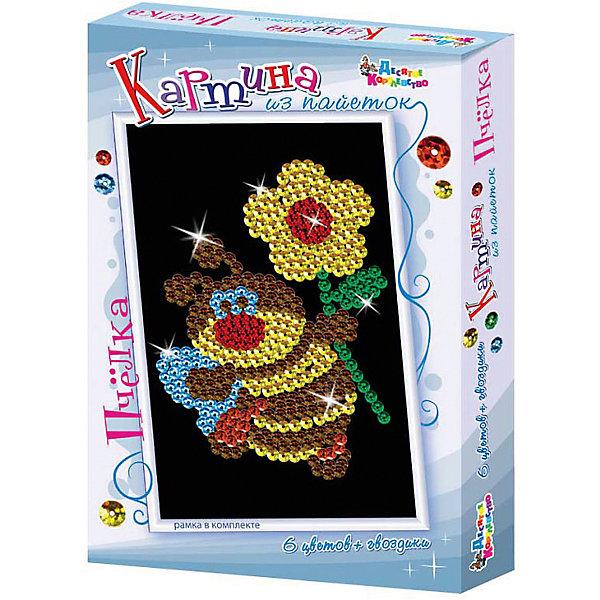 Десятое королевство Набор для творчества. Картина из пайеток Пчелка набор для сладкого чаепития пчелка