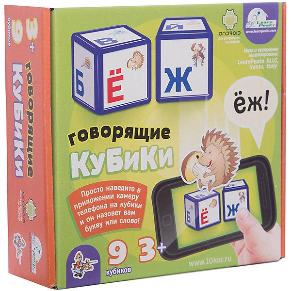 Выдувка. Кубики говорящие Алфавит 9 эл (8 см)Развитие речи<br>В этом наборе «Говорящих кубиков» - 9 крупных кубиков с буквами и изображениями, размером 8 см, с закругленными краями, изготовленных из легкого выдувного пластика и предназначенных для детей от 3 лет и старше. <br>   Это классическая игра для обучения ребенка алфавиту, разработанная с использованием самых актуальных цифровых технологий. Наши кубики необычны и заметно выделяются из ряда аналогичных изделий - ведь в нашей версии можно использовать смартфон или планшет. Как только Вы совместите экран устройства с изображением на кубиках, с помощью специального приложения программа считает букву и назовет ее. Умное приложение способно также распознавать составленные ребенком слова, и пригодится на разных ступенях развития Вашего малыша. <br>   С такими кубиками дети быстрее запоминают буквы алфавита, с особенным удовольствием составляют свои первые слова и слоги. Различные цифровые устройства давно стали частью современного мира и их можно использовать как полноценное средство развития маленького человека. Кроме того, «Говорящие кубики» помогут найти компромисс между желанием детей играть с современными цифровыми устройствами и стремлением родителей обучить малышей полезным навыкам.<br>Ширина мм: 255; Глубина мм: 245; Высота мм: 85; Вес г: 520; Возраст от месяцев: 420; Возраст до месяцев: 2147483647; Пол: Унисекс; Возраст: Детский; SKU: 7245748;