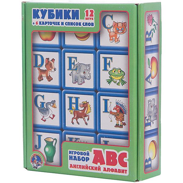 Десятое королевство Выдувка. Кубики с бортиком ABC. Английский алфавит 12 эл (5,5 см)