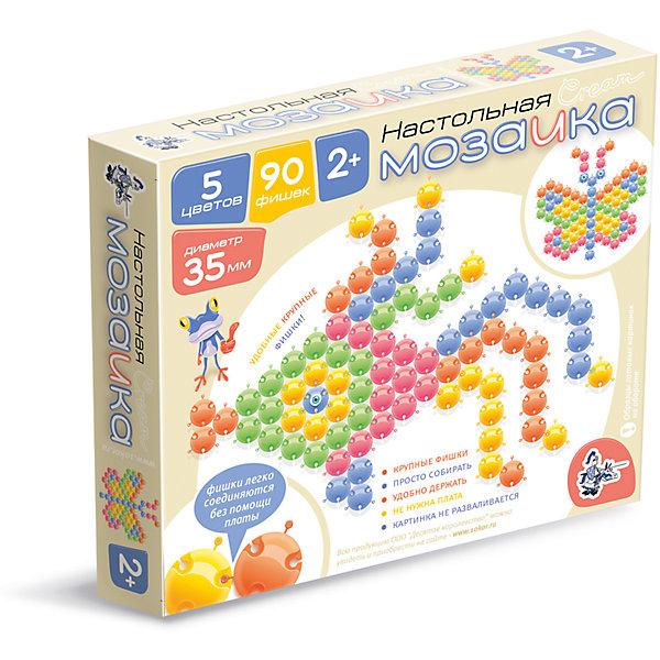 Мозаика настольная  с крупными фишками d35/90эл (пастель)Мозаика<br>Характеристики:<br><br>• возраст: 3+;<br>• размер упаковки: 23,5x20,5x3,5 см;<br>• масса: 290 г.<br><br>Это необычная пластмассовая мозаика, для которой не требуется специального поля. Ребенку будет достаточно ровной поверхности на полу или столе для игры. <br><br>В набор входят 90 фишек пяти нежных цветов имеют размер 35 миллиметров. Между собой фишки соединяются при помощи специальных замочков, которые позволяют не развалиться собранной мозаике даже при переноске. <br><br>Благодаря специальной форме, фишки можно складывать стопкой, что очень удобно при хранении.<br><br>Мозаика настольная  с крупными фишками, d35, 90 элементов (пастель), «Десятое королевство» можно купить в нашем интернет-магазине.<br>Ширина мм: 235; Глубина мм: 205; Высота мм: 35; Вес г: 290; Возраст от месяцев: 420; Возраст до месяцев: 2147483647; Пол: Унисекс; Возраст: Детский; SKU: 7245758;