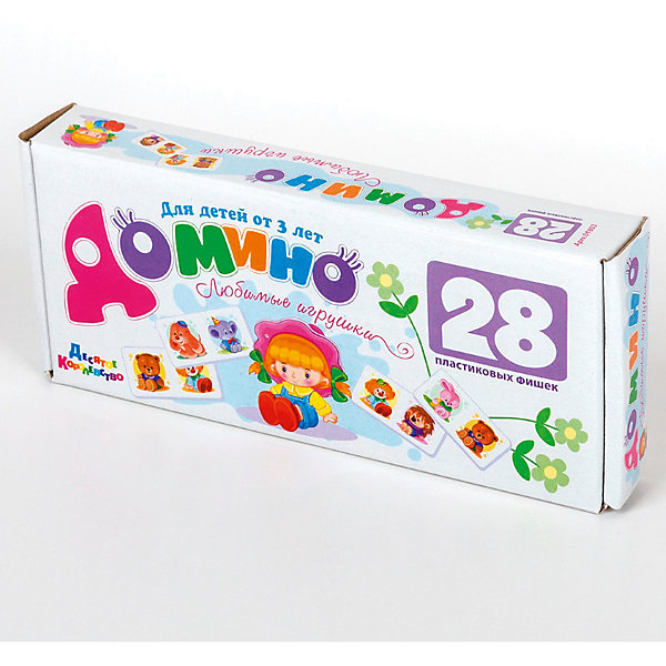 Домино Любимые игрушки (без обклейки) мал.Обучающие игры<br>Детское домино малое из пластика «Любимые игрушки» практически не отличается от аналогичного, артикул 01509, за исключением размеров коробки и цены. Выбор оставляем за покупателем.<br>Детскими психологами замечено, что малыш охотнее играет в игры и игрушки которые ему больше нравятся. А это детское домино не может не понравиться ребенку, на нем изображены такие милые «Любимые игрушки». Поэтому малыш многому учится и быстрее обучается, развивает наблюдательность и внимание, навыки коллективного общения, сообразительность и способность к анализу ситуации. Домино с крупными легкими фишками имеют размер 70х35х6 мм и легко помещаются в руке ребенка, для травмобезопасности края закруглены, не имеют запаха, так как изготовлены из первичного пищевого пластика, а при нанесении изображения не использовались ни лаки, ни краски. Изображение нанесено методом термопереноса, когда трансферные пленки под давлением спекаются с пластиком, создавая долговечную яркую картинку.<br>Ширина мм: 235; Глубина мм: 100; Высота мм: 35; Вес г: 165; Возраст от месяцев: 684; Возраст до месяцев: 2147483647; Пол: Унисекс; Возраст: Детский; SKU: 7245777;