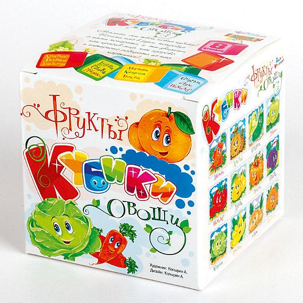 Десятое королевство Кубики Овощи и фрукты (без обклейки) 8 шт.